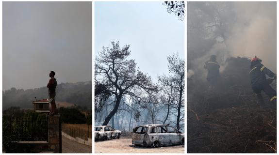 Εικόνες καταστροφής από τον πύρινο εφιάλτη στ&eta